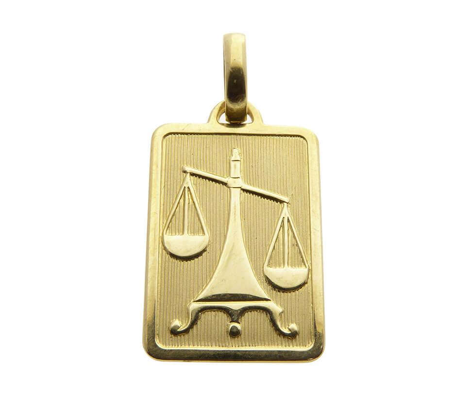 Geel gouden weegschaal sterrenbeeld hanger