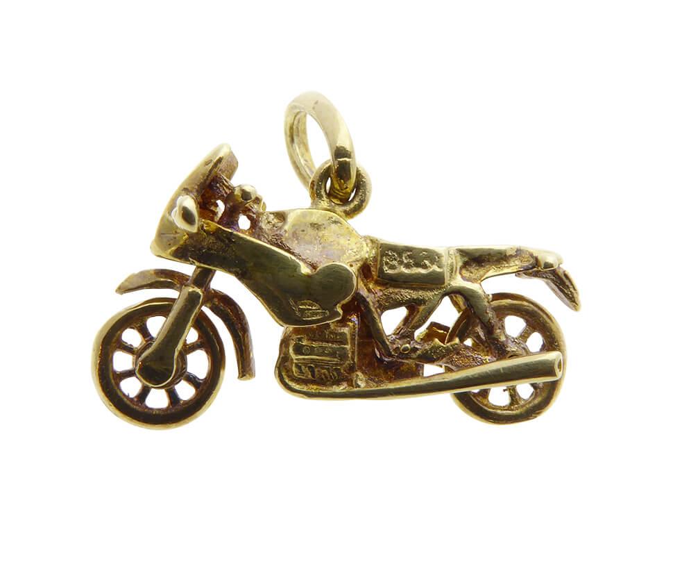 Gouden dual sport motor hanger