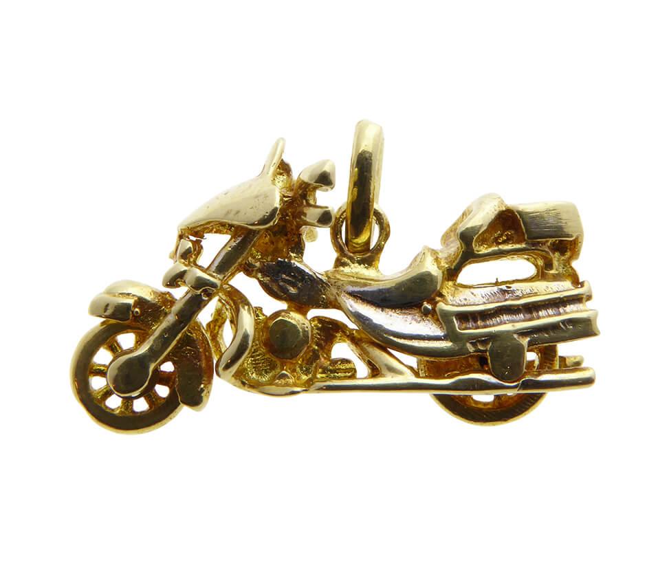 Gouden motor hanger