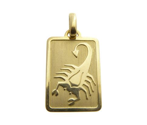 Gouden schorpioen sterrenbeeld hanger