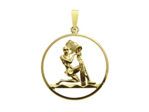 Gouden waterman sterrenbeeld hanger