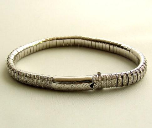 18 karaat wit gouden diamanten armband
