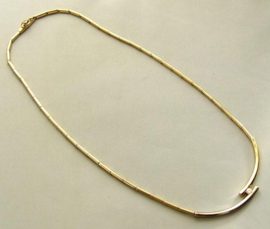 Bicolor gouden diamanten collier