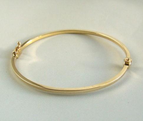 Geel gouden 14 karaat slavenarmband