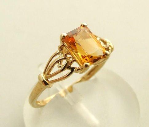 Geel gouden citrien ring