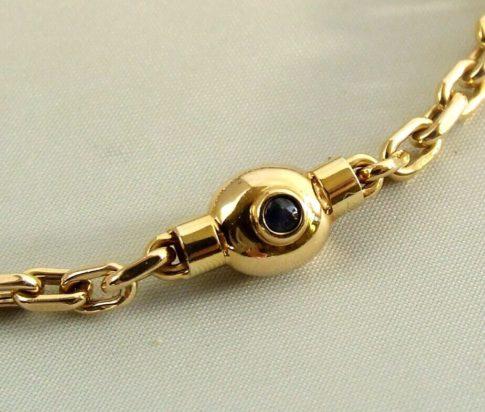 Geel gouden saffieren armband