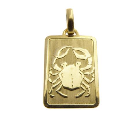 Gouden kreeft sterrenbeeld hanger