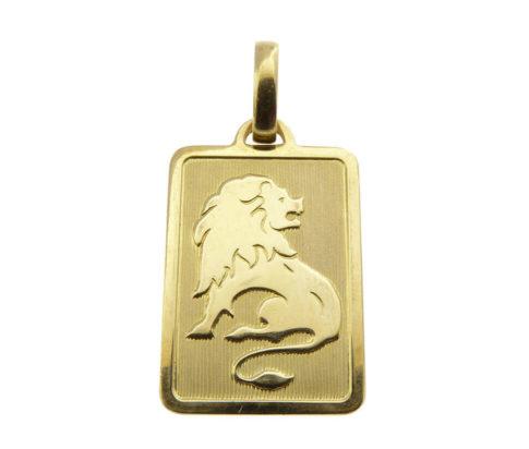 Gouden leeuw sterrenbeeld hanger