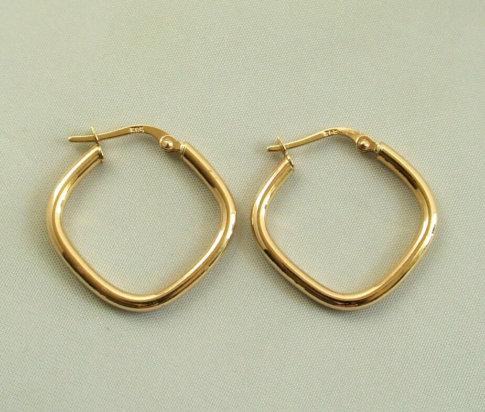 Gouden ruiten oorbellen