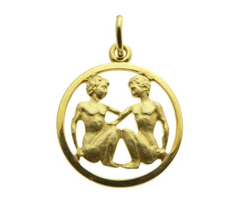 Gouden tweelingen sterrenbeeld hanger