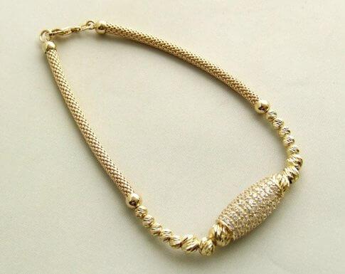 Christian gouden zirkonia armband
