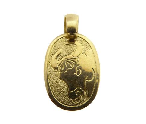 Geel gouden taurus sterrenbeeld hanger