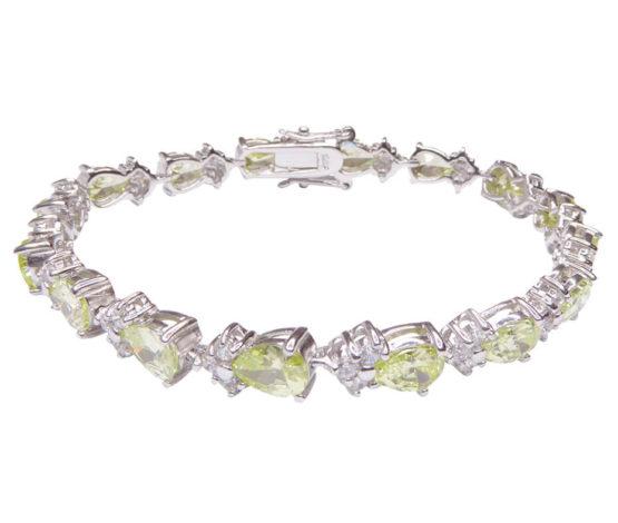 Zilveren armband met synthetische edelstenen