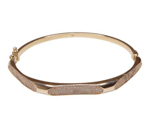 Geel gouden zirkonia armband