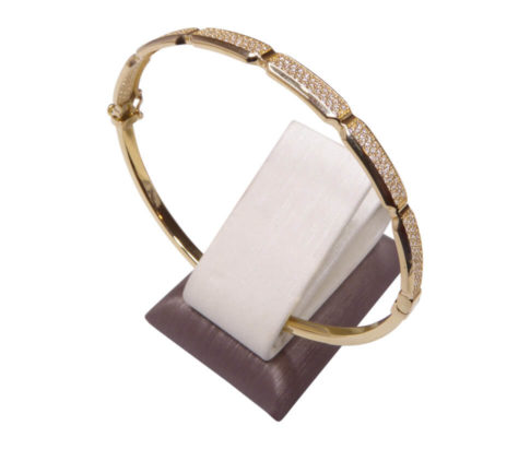 14 karaat gouden zirkonia armband