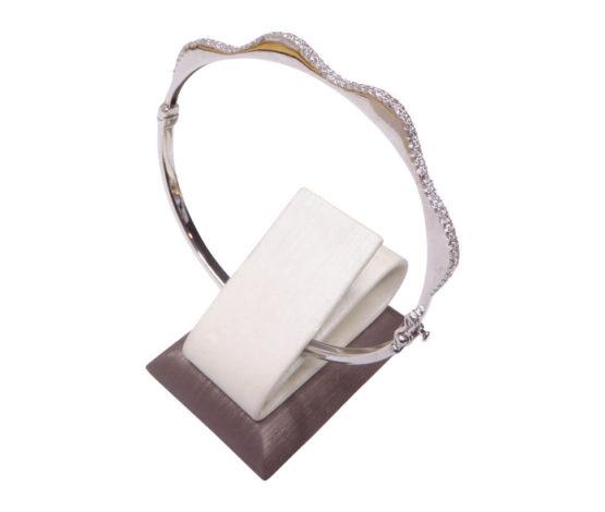 14 karaat wit gouden armband met zirkonia