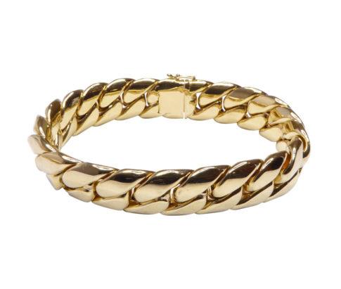 18 karaat gouden armband massief