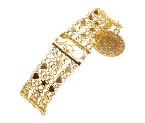 21 karaat gouden armband