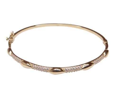 14 karaat gouden rose armband met zirkonia
