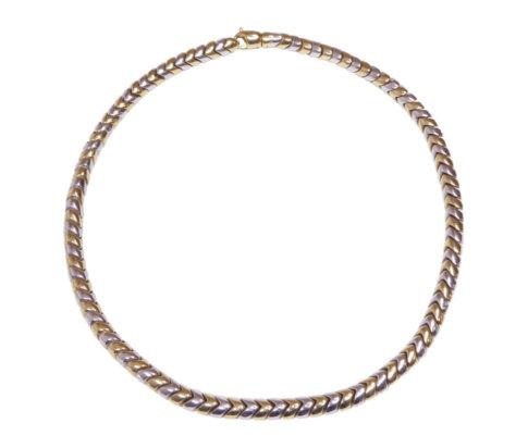 Gouden bicolor dames collier