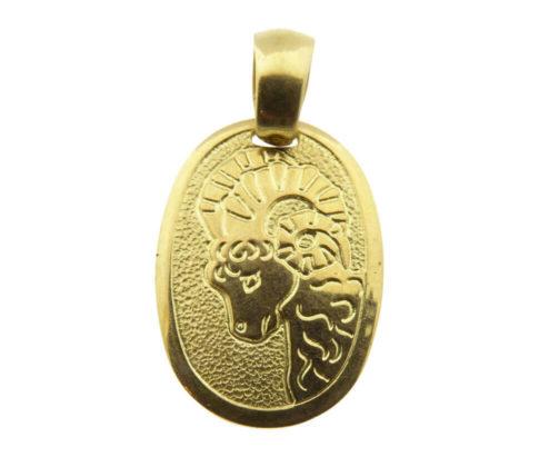 Geel gouden steenbok sterrenbeeld hanger
