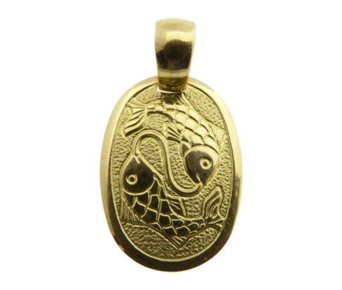 Geel gouden vissen sterrenbeeld hanger
