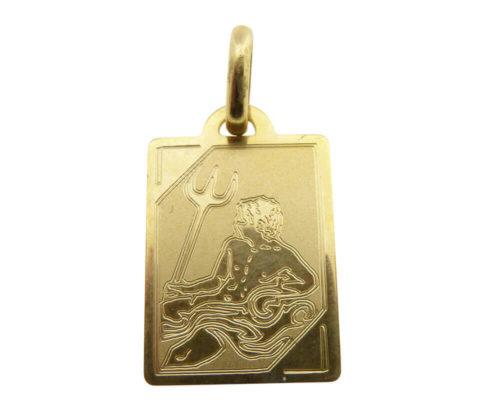 Geel gouden waterman sterrenbeeld hanger