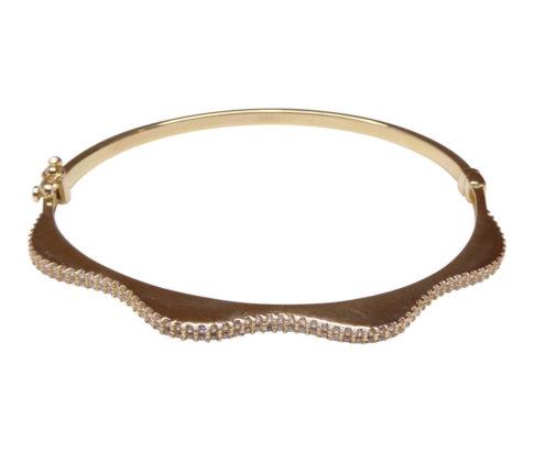 Gouden 14 karaat armband met zirkonia