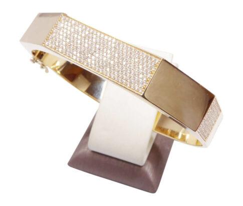 Gouden 14 karaat zirkonia armband