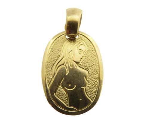 Gouden maagd sterrenbeeld hanger