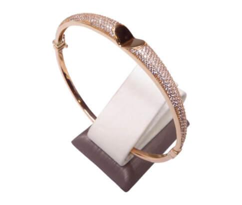 Gouden rose zirkonia armband