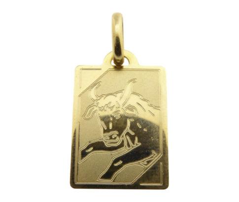 Gouden taurus sterrenbeeld hanger