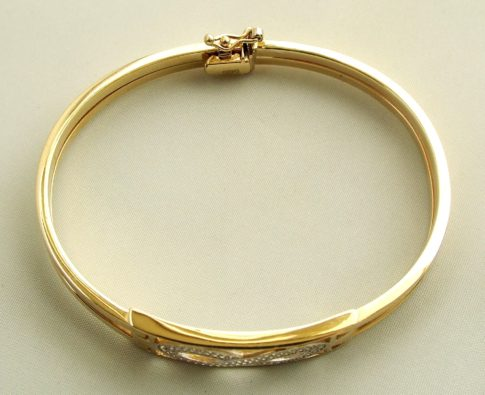 Gouden zirkonia Infinity armband