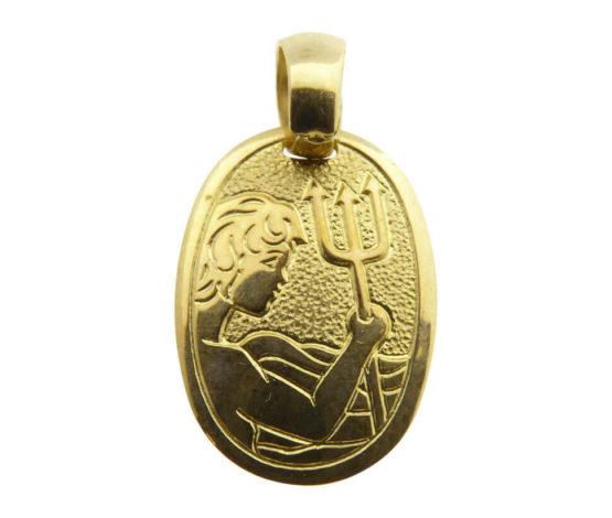 14 karaat gouden waterman sterrenbeeld hanger