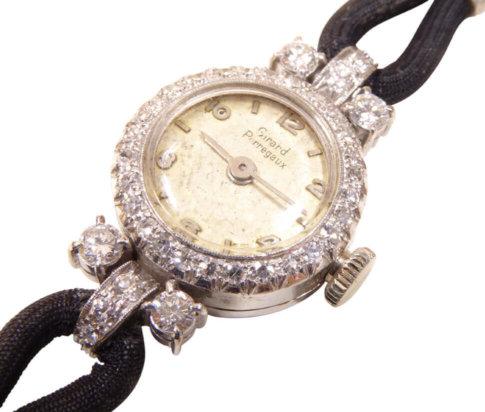 Wit gouden briljanten Girard Perregaux horloge