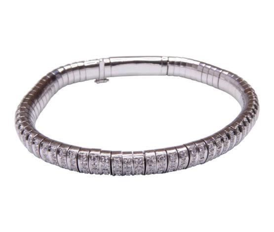 Wit gouden diamanten armband