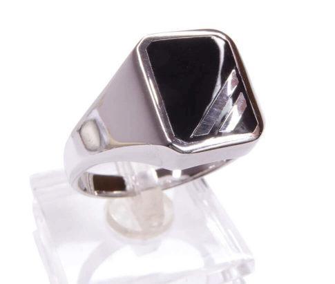 Zilveren heren ring met onyx