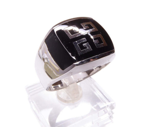 Zilveren heren ring met onyx Grieks model