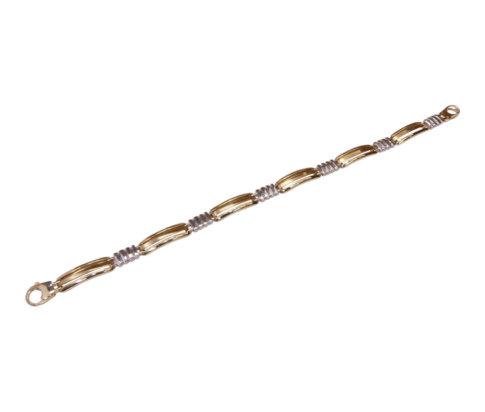 14 karaat bicolor armband