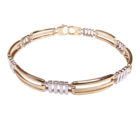 14 karaats armband met bicolor