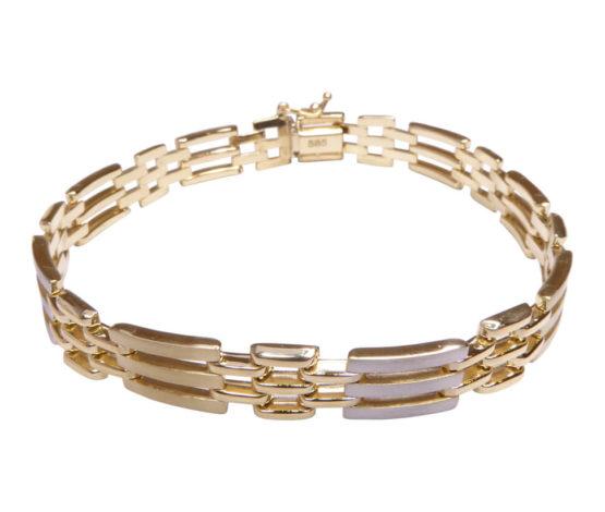 14 karaats bicolor armband