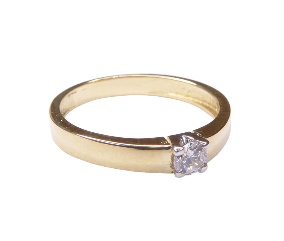 1f2a5494304 14 karaats geel gouden ring met zirkonia kopen? Mooie ring ...