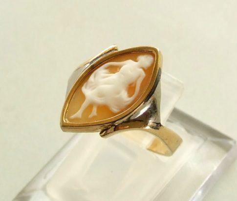 Antieke gouden camee ring
