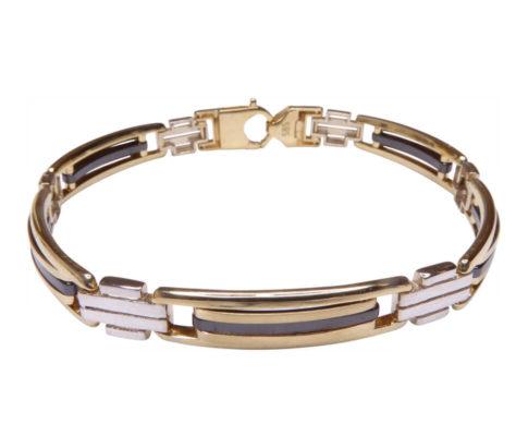 Bicolor gouden armband met keramiek
