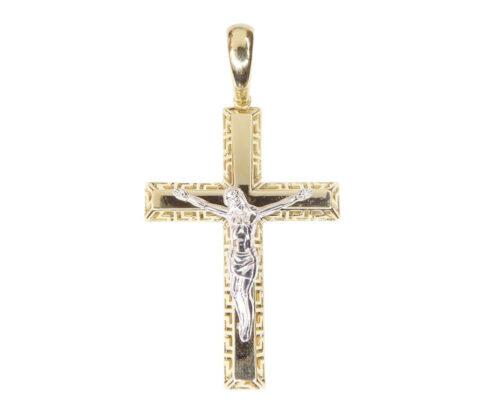 Bicolor gouden corpus kruis