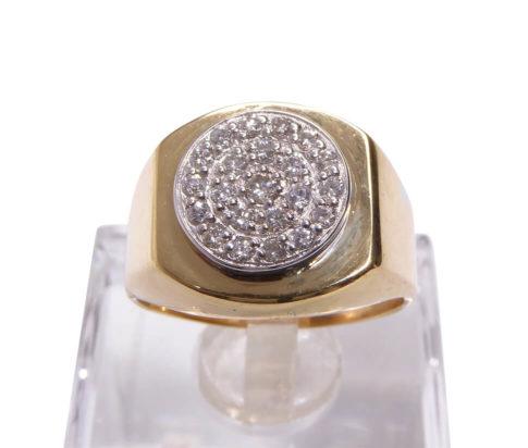 Bicolor gouden diamanten babyring