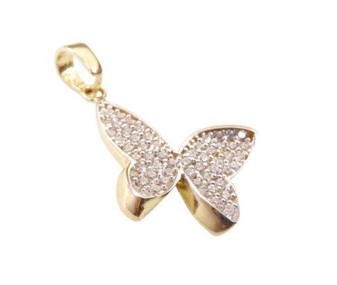Bicolor gouden vlinder hanger