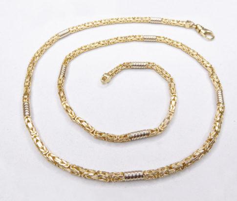 Gouden bicolor koningsketting