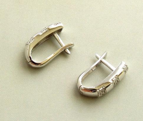 Gouden zirkonia oorbellen
