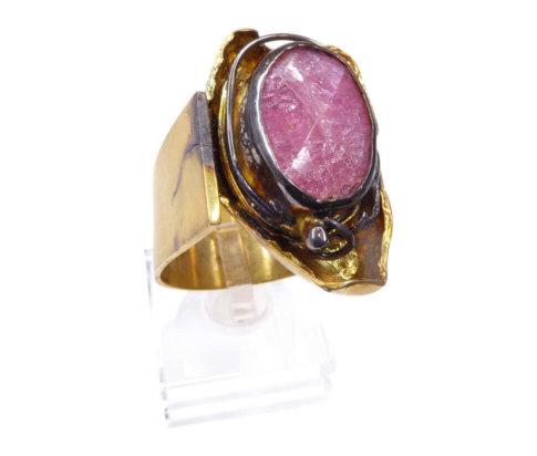 Zilveren ring met kunziet